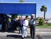 محافظ البحر الأحمر يتفقد الحالة الأمنية وإجراءات السفر بمطار الغردقة الدولى