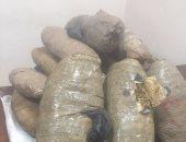 سقوط عاطل عثر بحوزته على 350 كيلو جرام من مخدر البانجو بأسوان