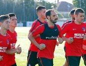 بالصور.. أتلتيكو مدريد يبدأ الاستعداد للموسم الجديد بأحمال بدنية عالية