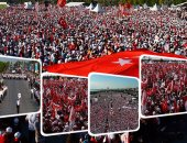 بالفيديو والصور.. عشرات الآلاف من الأتراك يتظاهرون ضد الديكتاتور بإسطنبول.. تصاعد وتيرة الغضب فى تركيا.. المحتجون يسيرون 450 كيلومترا فى 25 يوما لمواجهة القمع والبطش.. وزعيم المعارضة: الطاغية سيرحل مهما فعل