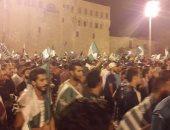 جماهير أهلى طرابلس تحتفل بالتأهل فى ميدان الشهداء