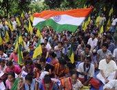 بالصور.. مظاهرات فى الهند للمطالبة بإقامة دولة مستقلة بولاية تريبورا