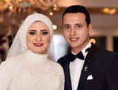 """بالصور.. زفاف """"عمر"""" و""""إسراء"""" بحضور نجوم المجتمع والمشاهير"""