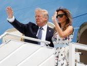 بالصور.. ترامب يغادر فرنسا بعد حضور احتفالات يوم الباستيل