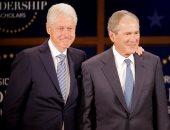 """بالصور..""""بوش وكلينتون"""" يجتمعان فى مكتبة جورج دبليو بوش الرئاسية"""