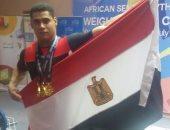 بالصور.. محمد إيهاب يتوج بالميدالية الذهبية فى البطولة الأفريقية لرفع الأثقال