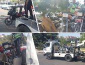 تحرير 1096 مخالفة دراجات بخارية بدون لوحات بالمحافظات