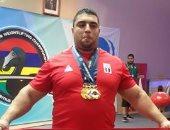 بالصور.. أحمد عبد العزيز يتوج بذهبيات وزن + 105 بالبطولة الأفريقية للأثقال