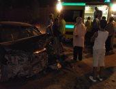 مصرع شخص وإصابة 2 آخرين فى حادث تصادم سيارة نقل وملاكى بكورنيش المعادى
