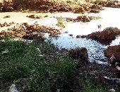 مياه الصرف الصحى تنتشر فى شوارع القطامية والأهالى يستغيثون بالجهاز