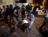 الاحتلال الإسرائيلى يهاجم المصلين بالمسجد الأقصى