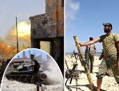سلاح الجو الليبى يدمر طائرة مقاتلة للمليشيات فى مدرج مطار مصراتة