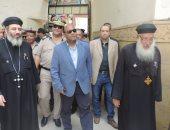 مدير أمن الغربية يتفقد تأمين كنيسة العذراء بسمنود وشارع الصاغة بالمحلة