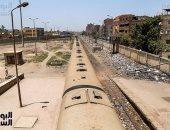 تعطل قطار دمياط المنصورة أمام محطة اللضامين
