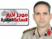 موجز أخبار 10 مساء.. المتحدث العسكرى: مقتل 30 تكفيرياً فى قصف جوى بشمال سيناء