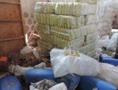 بالصور.. ضبط 4 أطنان منظفات مجهولة المصدر داخل مصنع غير مرخص ببورسعيد