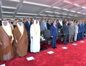 الرئاسة: السيسى وبن زايد وأمير مكة وحفتر يشهدون افتتاح قاعدة محمد نجيب