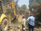 حملة لإزالة التعديات على مياه الري بمركز طامية فى الفيوم