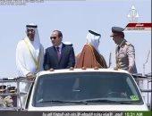 بالصور.. السيسى وضيوف مصر يستعرضون القوات المصطفة بقاعدة محمد نجيب العسكرية