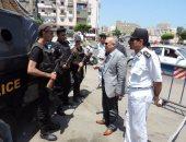 بالصور.. مدير أمن بورسعيد يتفقد تأمينات المحافظة فى ذكرى ثورة يوليو