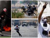 اشتباكات عنيفة بين قوات الاحتلال الإسرائيلى وفلسطينيين برام الله