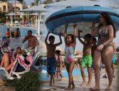 إقبال كثيف من السياح الأجانب على شواطئ الغردقة