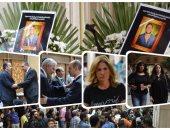 نجوم الفن والإعلام في عزاء عمرو سمير بمسجد الحامدية الشاذلية