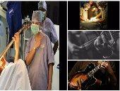 بالصور..طبيب يطلب من مريض عزف مقطوعة على الجيتار أثناء خضوعه لجراحة بالمخ
