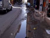 مياه الصرف الصحى تغمر شارع عمر بن الخطاب بكفر الزيات