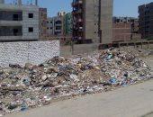 بالصور.. تراكم القمامة بجوار مجمع المدارس بقرية بطا فى بنها
