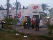 """محافظ الإسكندرية يحتفل بالعيد القومى للمحافظة على حافلة """"إينرجي"""""""