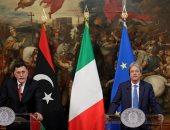 بالصور.. فائز السراج يلتقى رئيس الوزراء الإيطالى فى روما