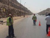 تحويلات مرورية بطريق السويس الصحراوى لإنشاء كوبرى لتقاطع الدائرى
