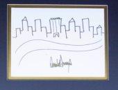 تعرف على ثمن لوحة رسمها الرئيس الأمريكى ترامب