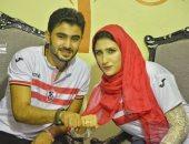 سنظل أوفياء.. أحمد وشروق يحتفلان بخطوبتهما بتيشرتات الزمالك