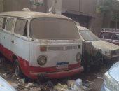 سيارات مهجورة خلف قسم مصر القديمة منذ عام 2011 والأهالى يطالبون بإزالتها