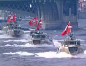بالفيديو..40 سفينة وغواصة عسكرية تشارك بيوم البحرية الروسية فى سان بطرسبرج
