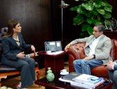 سحر نصر تتفق مع محمد العبار على ضخ استثمارات جديدة بالعاصمة الإدارية