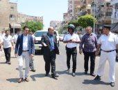 بالصور..مدير امن بورسعيد يقود حملة إشغالات فى اليوم الثانى لتوليه منصبه