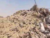 قارئ يشكو انتشار مخلفات البناء بمنطقة أبو الهول فى التجمع الخامس