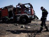 بالصور.. حريق غابات جنوبى أثينا يصيب رجال إطفاء ويلحق أضرارا بمنازل