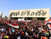 بالصور.. الآلاف من التيار الصدرى يتظاهرون فى بغداد استجابة لدعوة زعيمهم