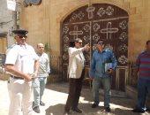 بالصور.. مدير أمن الأقصر يتفقد الخدمات الأمنية حول الكنائس بوسط المدينة