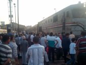 تعطل حركة قطارات الصعيد بعد خروج عجلات قطار بضائع عن القضبان فى مغاغة
