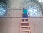 بالصور.. تركيب 4 كاميرات مراقبة فى مسجد أحمد بن طولون