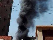 """قارئ يشارك بفيديو لحريق عمارة فى شارع بـ"""" سعد زغلول"""" محافظة القلوبية"""