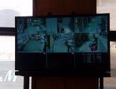 كاميرات لمراقبة حركة السيارات فى محيط أعمال إنشاء محطة مترو المهندسين