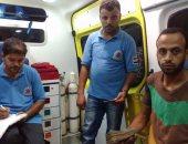 سائق سيارة إسعاف يعيد 13 ألف جنيه وتليفون محمول لصاحبه