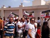 بالصور.. أهالى بنها ينظمون مسيرة قبل محاكمة المتهمين بقتل عروس كفر الجزار
