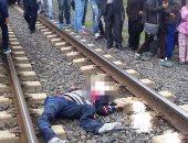 مصرع شاب دهسه قطار طنطا المنصورة أثناء عبوره شريط السكة الحديد بالمحلة